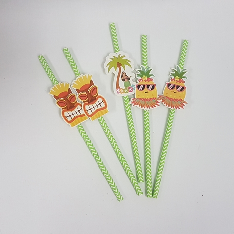 Hawaiian themed straws
