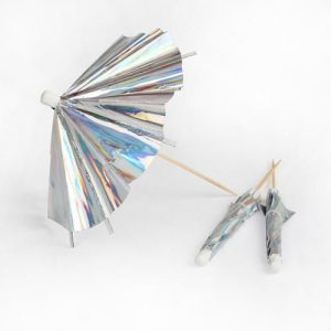 Iridescent cocktail parasols