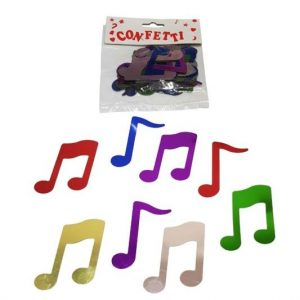 Large music note confetti - multi-coloured