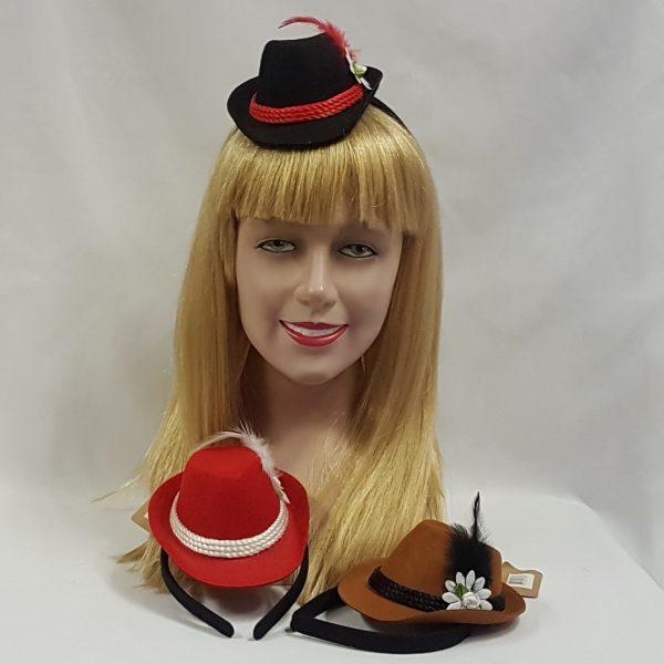 Mini Oktoberfest hats on headbands