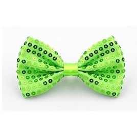 Neon green bow tie