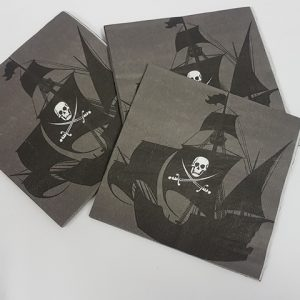 Pirate ship napkins