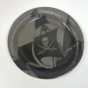 Pirate themed paper plates