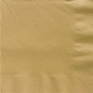 Plain gold paper napkins