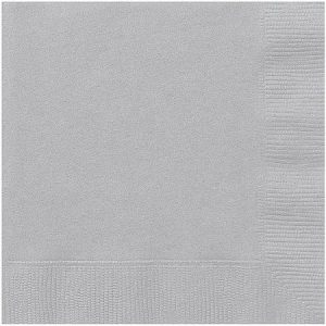 Silver paper napkins