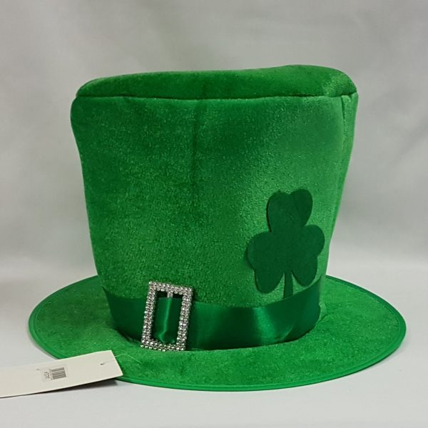 St Patrick's day hat with silver buckle