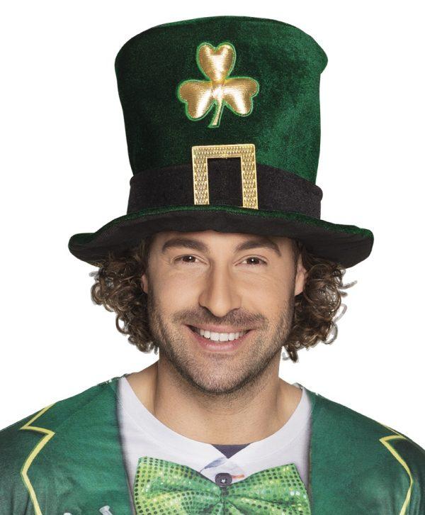 St Patrick's day velvet hat