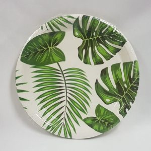 Tropical themed paper plates