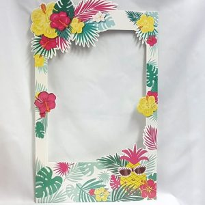 Tropical themed photo frame