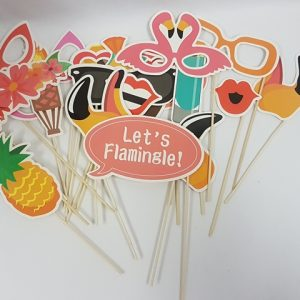 Tropical themed photo props