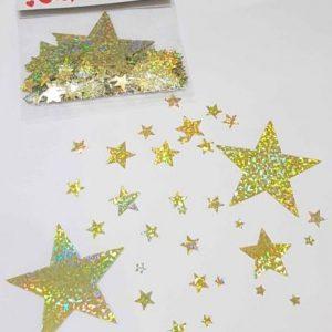 Hologram gold confetti