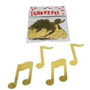 Large music note confetti gold