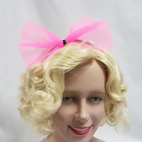 80's pink hairbow
