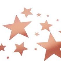 Rosegold confetti mixed