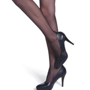 Sheer black pantyhose