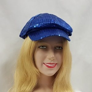 Royal blue sequin cap