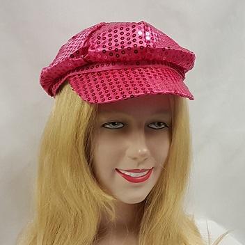Bright pink sequim hat