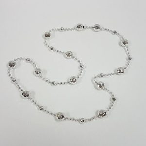 Disco ball beaded necklace