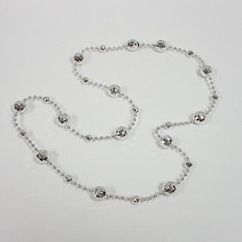 Disco ball beaded necklace