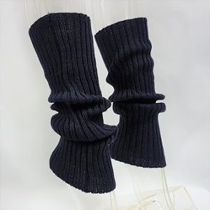 Navy blue leg warmers