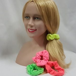 Neon hair scrunchies