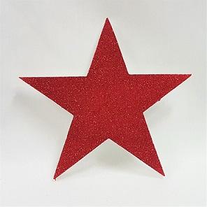 Red glitter polystyrene star