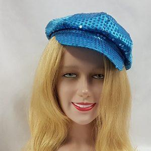 Turquoise sequin cap