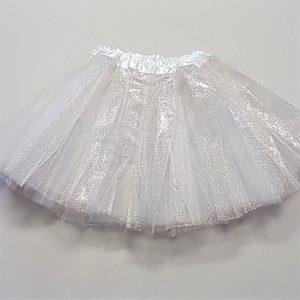White sparkle tutu child