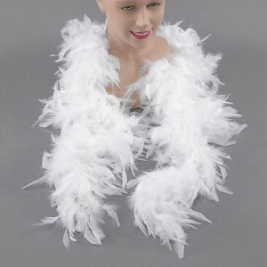 White 120g feather boa