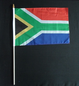 South African waving flag