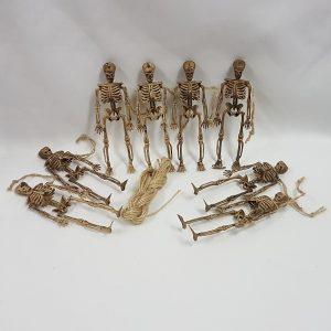 8pc Skeleton garland
