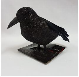 Black glitter crow