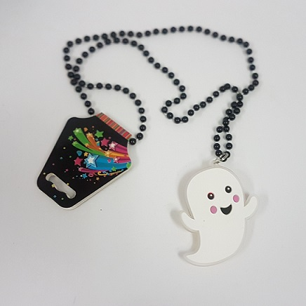 Ghost necklace with lights