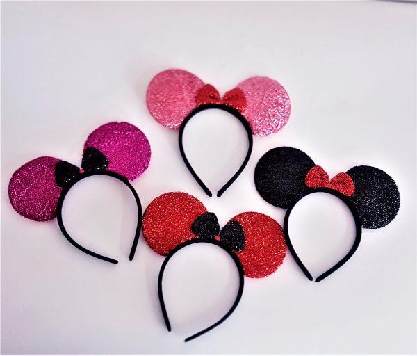 Minnie mouse style ears on headband