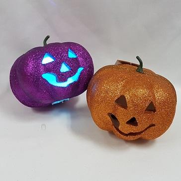 Glitter pumpkins light up