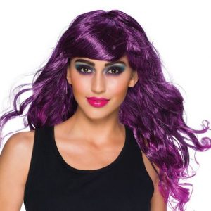Gothic temptress wig purple
