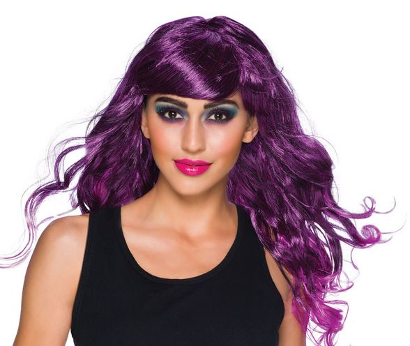 Gothic temptress wig purple