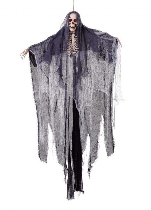 Light up hanging skeleton with shroud