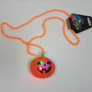 LIght up pumpkin necklace