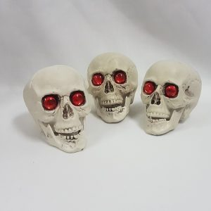 Red eye skulls 3 pack