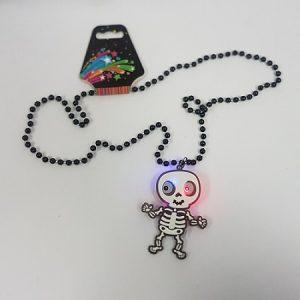 LIght up necklace skeleton