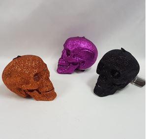 Glitter light up skulls