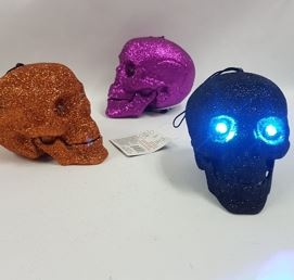 Glitter light up skulls