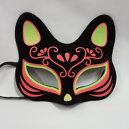 Day of the Dead cat mask glitter