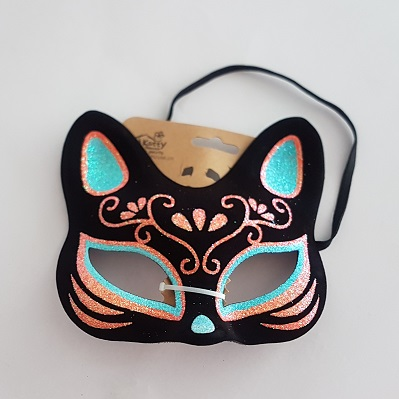 Glitter cat mask