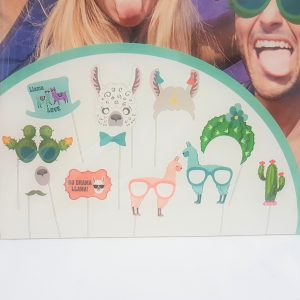 Llama themed photo booth props