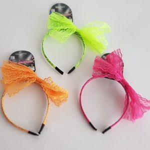 Neon lace headbands