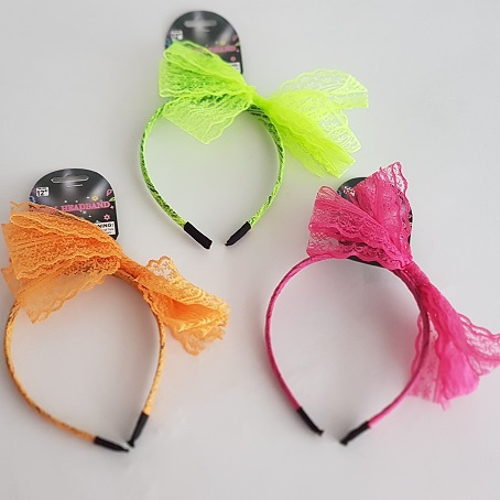 Neon lace headbands