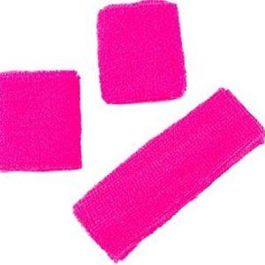 Neon pink headband set