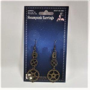 STeampunk cogwheel earrings